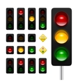 Traffic Lights Icon Set vector image