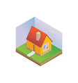Isometric hosue vector image