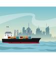 ship cargo container maritime transport urban vector image