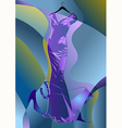 abstract couture dress vector image