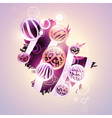 abstract wild background vector image vector image