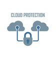 cloud protection vector image