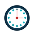 Wall clock isolated icon over white vector image