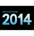 Blue shade new year 2014 vector image