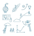 Doodle business people icons vector image