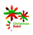 Geometric Christmas sale or promotion ad banner vector image