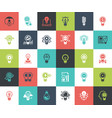 Light bulbs icons vector image