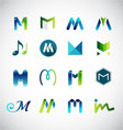 Logo design based on letter M vector image