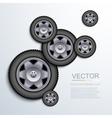 modern wheels background vector image