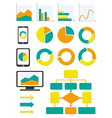 Business chart and info graph icons set vector image vector image