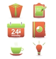 time management business icons vector image vector image