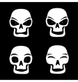different skull emotions vector image