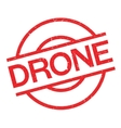 Drone rubber stamp vector image