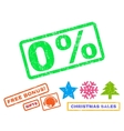 0 Percent Rubber Stamp vector image