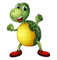 A playful turtle vector image