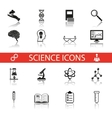 Simple Science and Research Icons Symbols Set vector image