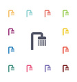 shower flat icons set vector image