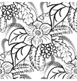Monochrome floral seamless pattern Large flowers vector image