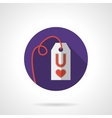 Colored round love proposal label icon vector image