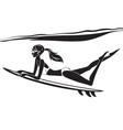 Underwater surf girl vector image vector image