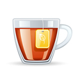 cup of tea vector image vector image