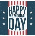 Happy Memorial Day patriotic Background vector image