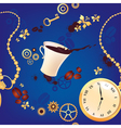 Coffee and watches vector image