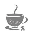 coffee cup icon logo design flat vector image