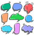 cute speech bubble style set vector image