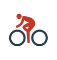 cycling icon on white background vector image