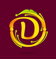 D letter monogram design elements vector image