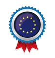EU badge with red ribbon vector image