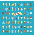 icecream set vector image
