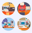 media gadget electronics technology concept icon vector image