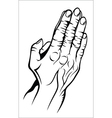 Old prying hands vector image