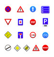 road signs isolated on white background vector image