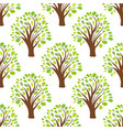 seamless pattern texture background with trees vector image