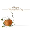 Thanksgiving Day card Autumn background Happy vector image