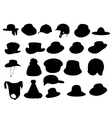 Wallets collection silhouette vector image
