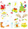 Set of Christmas clip-arts vector image vector image
