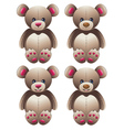 Brown Teddy Bear2 vector image