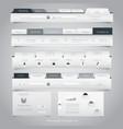 Web site navigation menu pack 24 vector image