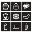 set of black and white icons arab emirates vector image