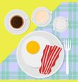 breakfast top view in flat vector image