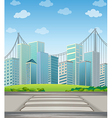 Tall buildings in the city vector image