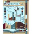 Retro infographics elements set vector image