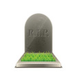 grave isolated vector image vector image
