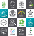 large set of logos Science vector image