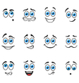Smiles with blue eyes vector image vector image