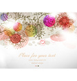 Colourful Retro Background with Floral Elements vector image
